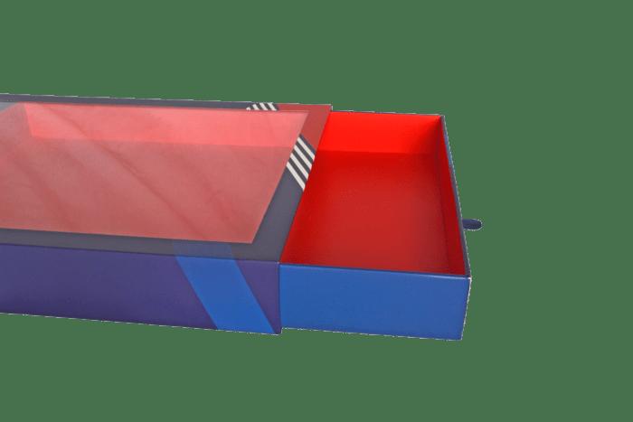 Boîte avec fenêtre et tiroir