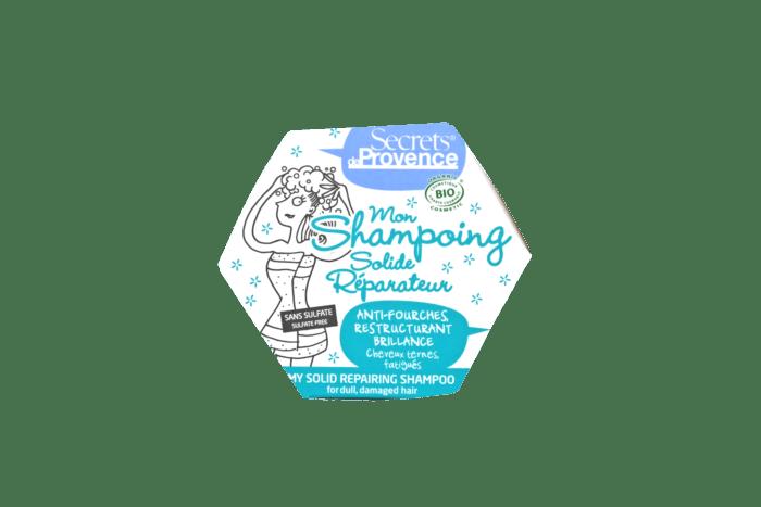 Boîte de shampoing hexagonale bleue
