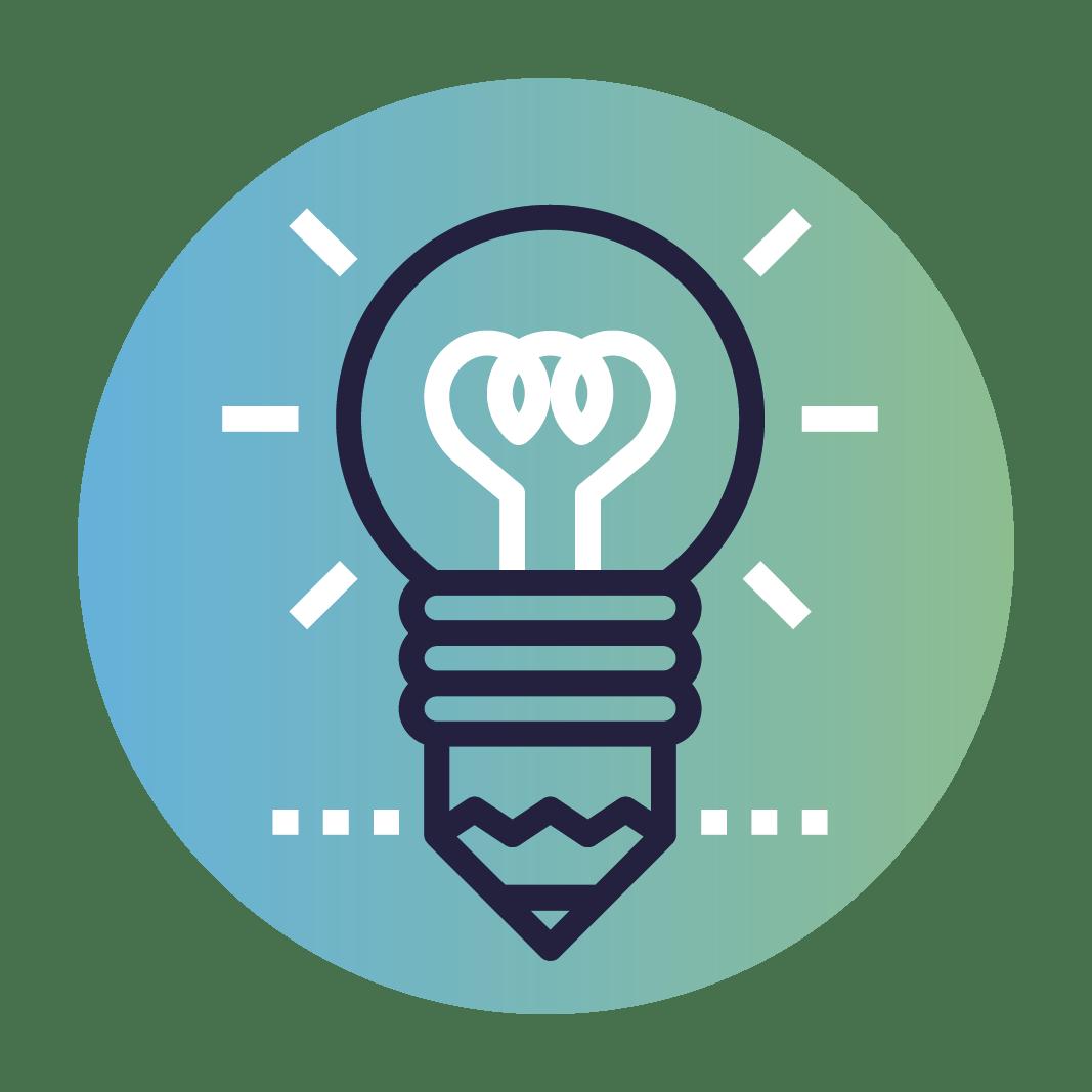Icon ampoule conception graphique