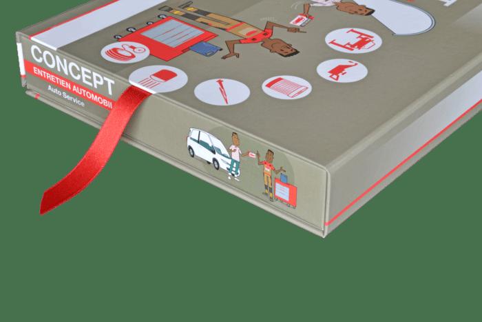 Boîte livre avec ruban